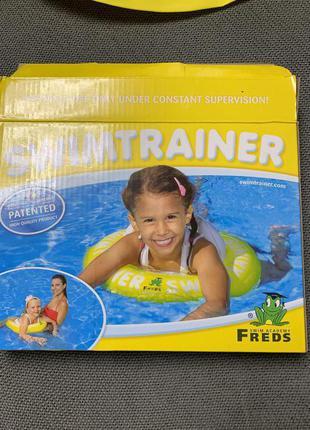 Надувной круг swim trainer желтый