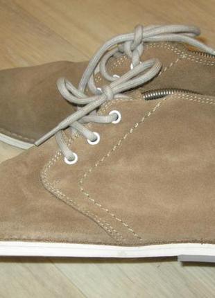 - фирменные легкие замшевые ботинки - pull&bear - 40 -