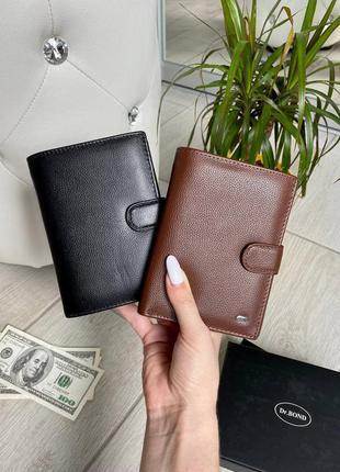 Кожаное портмоне под документы и паспорт, чоловіче шкіряне портмоне