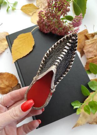 Игольница ссср туфелька аладдин восточный ботинок советский декоративный