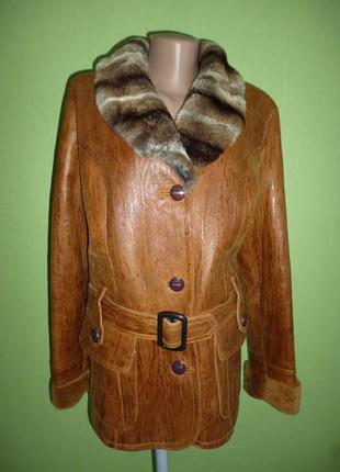 Стильная  натуральная  куртка-дубленка  xl ,большая скидка всего пару дней