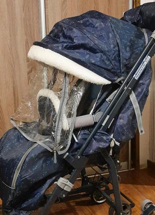 Санки-коляска, санки на колесах ника 7-1 б