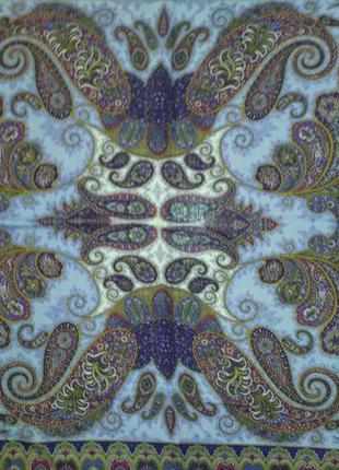 Фаворит - павлопосадский платок шерстяной с шелковой бахромой
