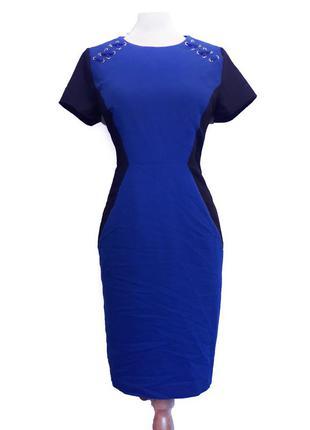 Стильное красивое синее платье футляр