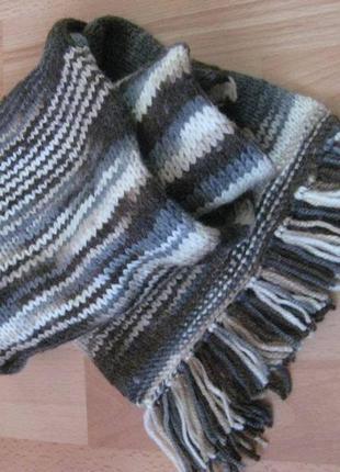 Шерстяной шерсть мягкий шарф унисекс h&m