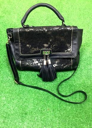 Шикарная сумка с кружевом #67