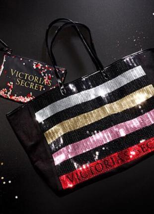 Сумка victoria's secret в комплекте с косметичкой