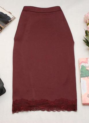 3e7189f7a7cb Миди юбка в бельевом стиле ягодного оттенка m&s 14uk Marks & Spencer ...