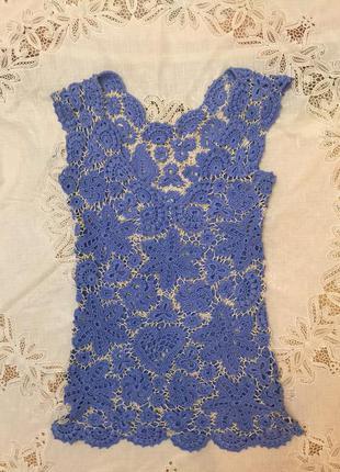 Блуза вязаная