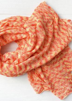 Вязанный палантин шарф