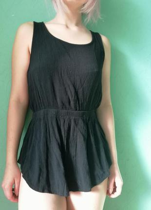 Блуза tally-weijl черная с открытой спиной