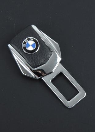 Заглушка ремня безопасности метал+кожа все модели авто