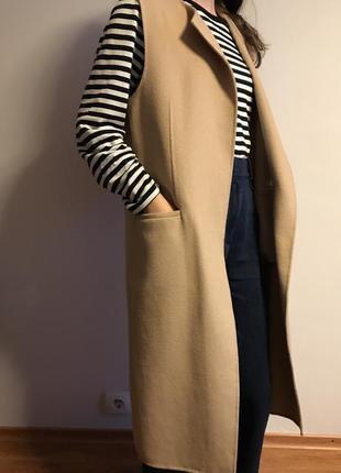 Шерстяное пальто-жилет2