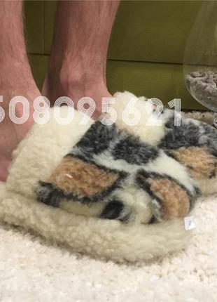 Тапочки из овчины всувки без задника. размеры 36-45