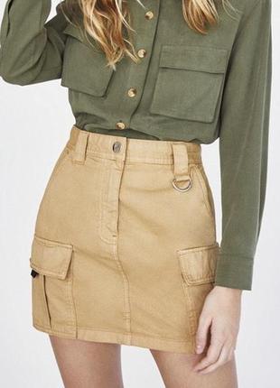 Шикарная юбка с карманами карго bershka/zara