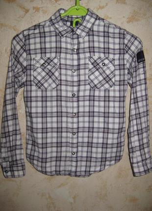 Теплая рубашка р.146-152