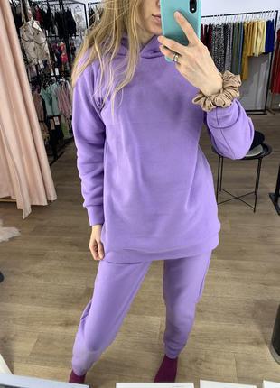 Костюм на флисе фиолетовый лаванда лиловый