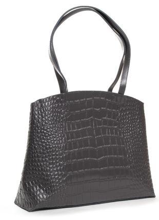 Велика жіноча шкіряна бізнес-сумка alex rai