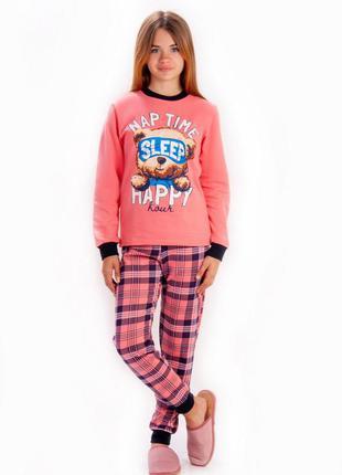 Тёплая пижама для девочек 128-158