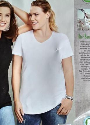 Белая базовая футболка giada с эко хлопка / германия