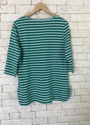 Зелёный в полоску реглан футболка туника