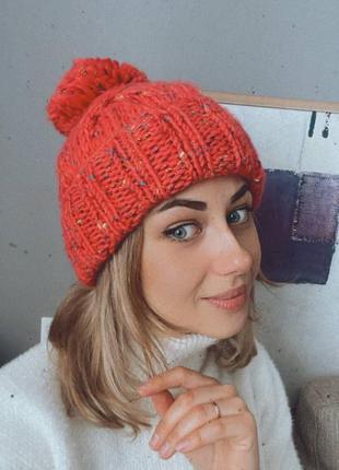 New look теплая шапка.