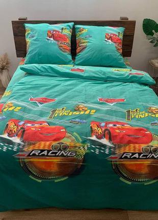 Комплект постельного белья полуторка машины машинки