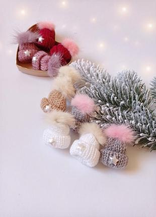 Набор резиночек резиночки для девочки заколочки для волос новогодние аксессуары