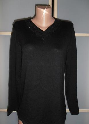 Нарядный свитер шелк коттон