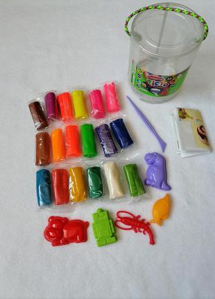 Набор креативного творчества тесто для лепки master do туба 18 цветов