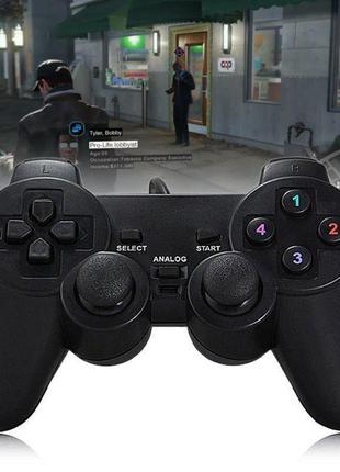 Джойстик игровой для компьютера usb double shock 2 удобный джойстик для игр