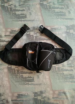 Качественная вело,мото-трекинговая рюкзак-сумка-бананка  на пояс big bear:cross 2.