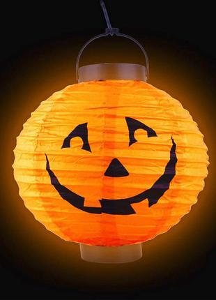 Декор на хэллоуин фонарь бумажный джек