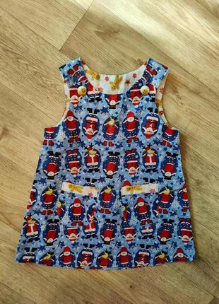 Новогодний сарафан платье на фотосессию 1 1,5 годика