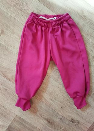 Джоггеры спортивные штаны на девочку 1 2 года