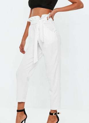 Модные женские брюки с высокой талией  с поясом от boohoo
