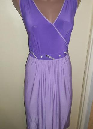 Красивое нарядное сиреневое платье, р.44-50