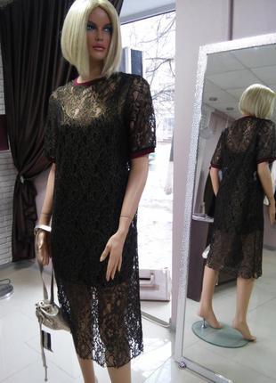 Платье сетка миди новое