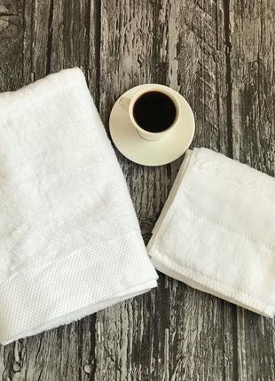 Рушник  білий люкс