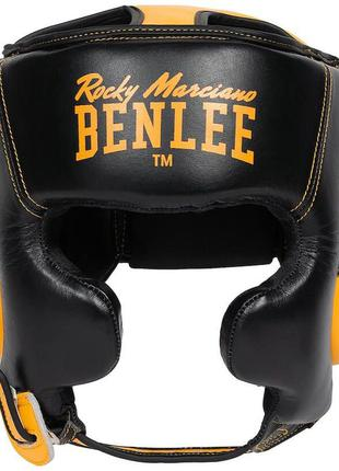Кожаный боксерский шлем benlee rocky marciano brockton