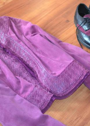 Нежная замшевая куртка в стиле chanel,р-р  с-м