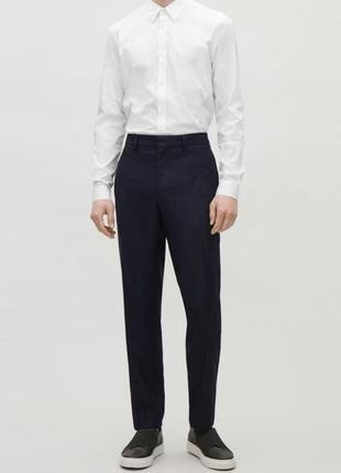 Классические брюки штаны cos шерстяные брюки синие брюки