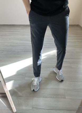 Брюки в клетку зауженные брюки классические брюки next