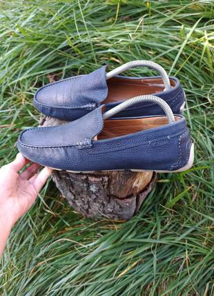 Крутые мокасины слипоны туфли мокасіни сліпони clarks rieker 40 41 р оригинал кожаные