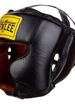 Кожаный боксерский шлем benlee rocky marciano tyson