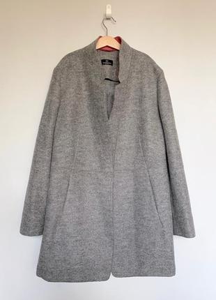 Серое полупальто/удлиненный пиджак  schneiders, австрия, 100 % шерсть