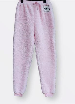 Меховые,плюшевые пижамные штаны