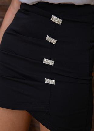 Юбки мини тренд 2 цвета на подкладке- s m l xl