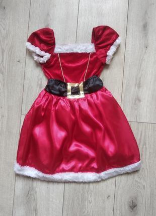 Плаття новорічне санта 3-5 років