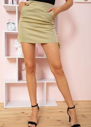 Базовая простая хлопок на подкладке мини юбка демми оливкового цвета s m l xl